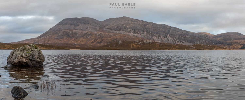 Ben Screavie viewed across Loch More
