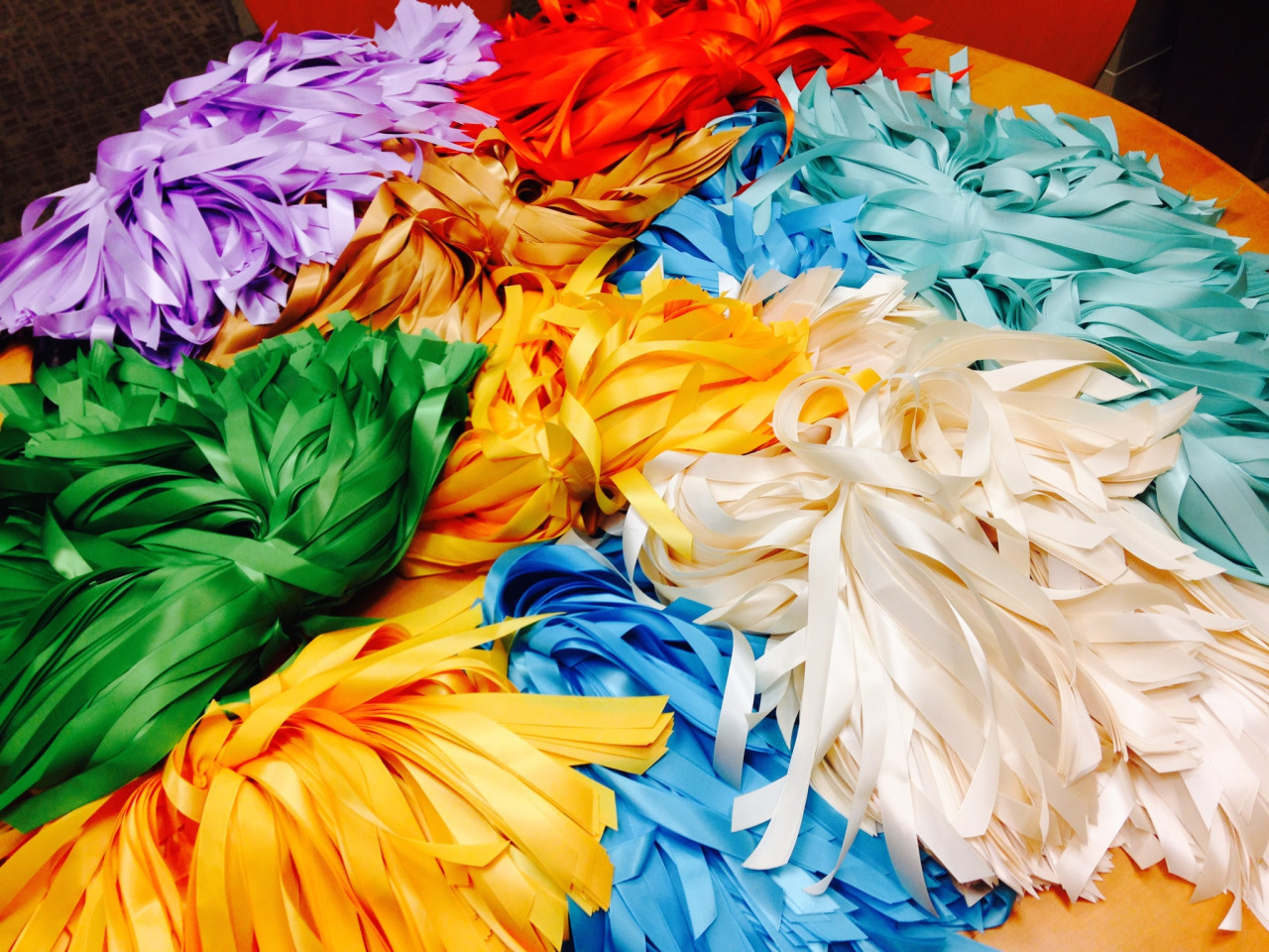 Just picked up 12,000 ribbons to give out during the People's Climate March. Massive thanks to NYC's M&J Trimming Company!