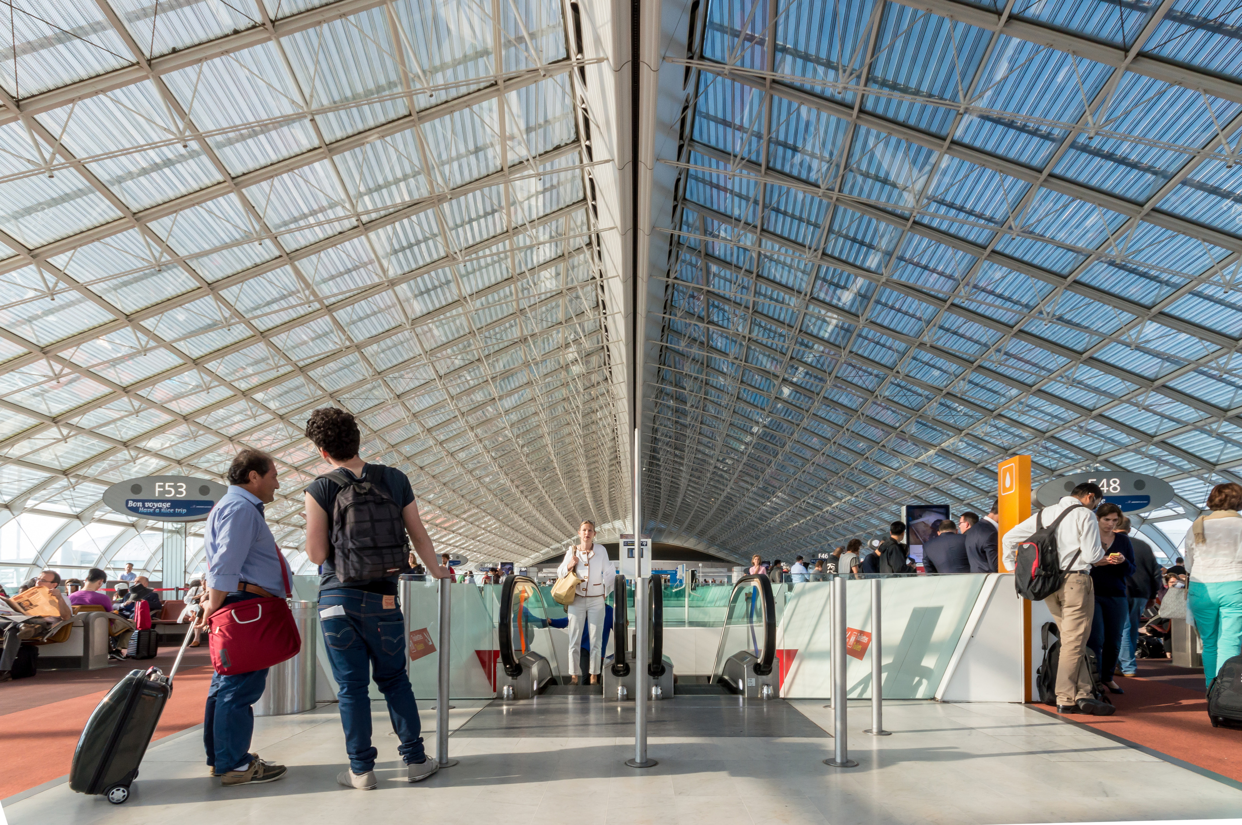 Charles-De-Gaulle luchthaven, Architectuurfotografie Frankrijk