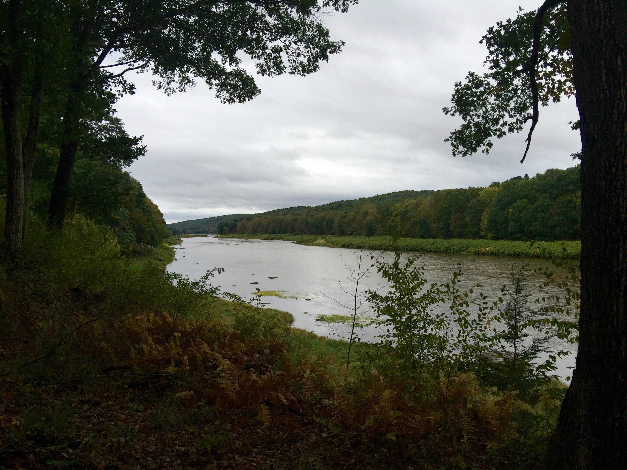 The Delaware River near Equinunk, PA