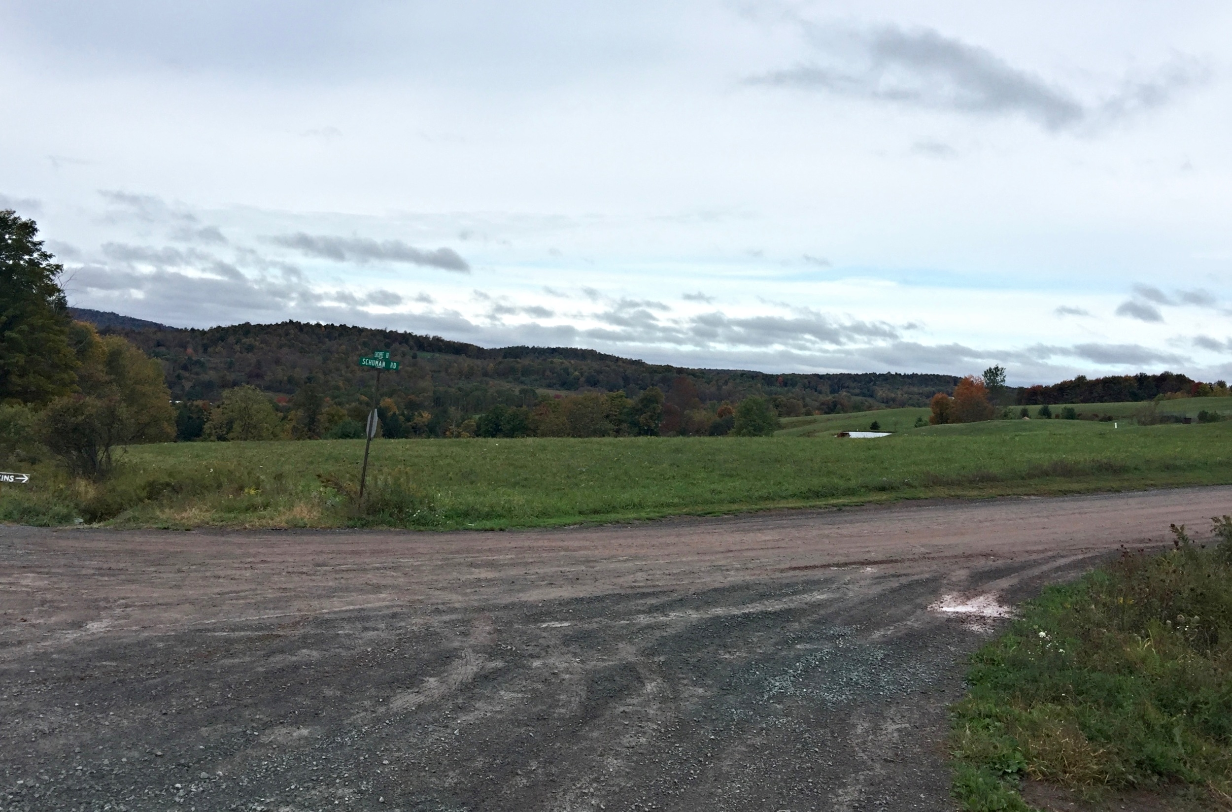 One of many gravel roads in north eastern PA.