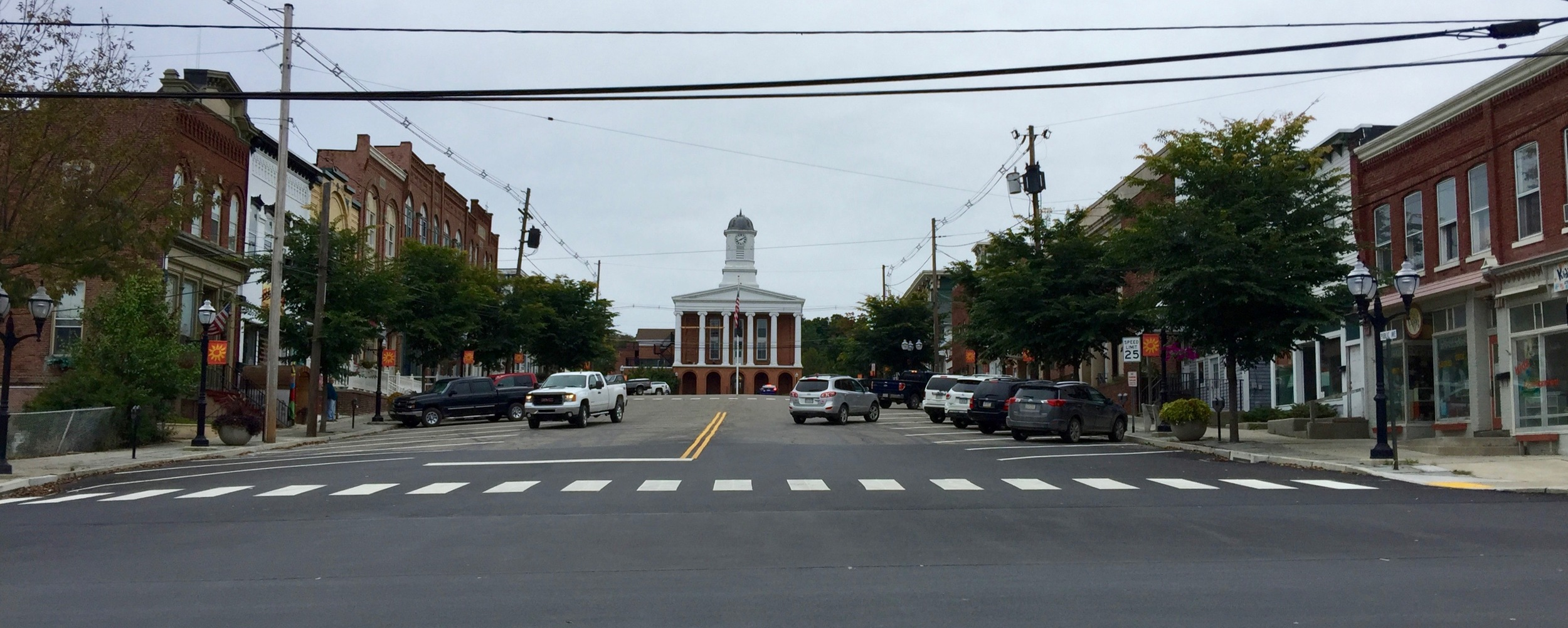 Montrose looking north toward the Susquehanna County Courthouse