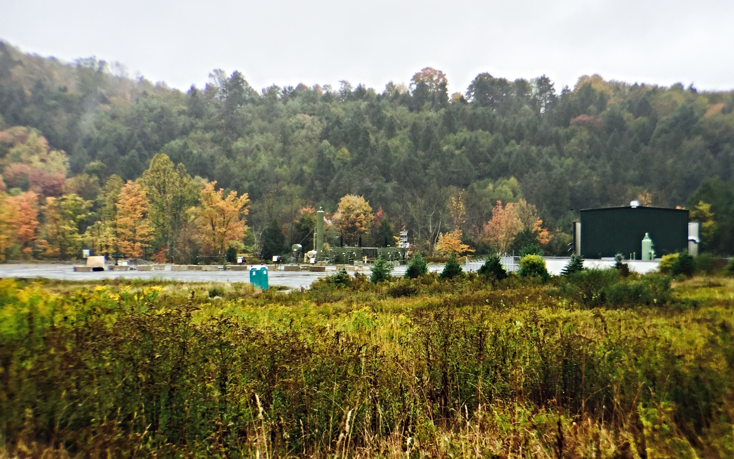 A fracking pad near Laurel Lake in northern PA.