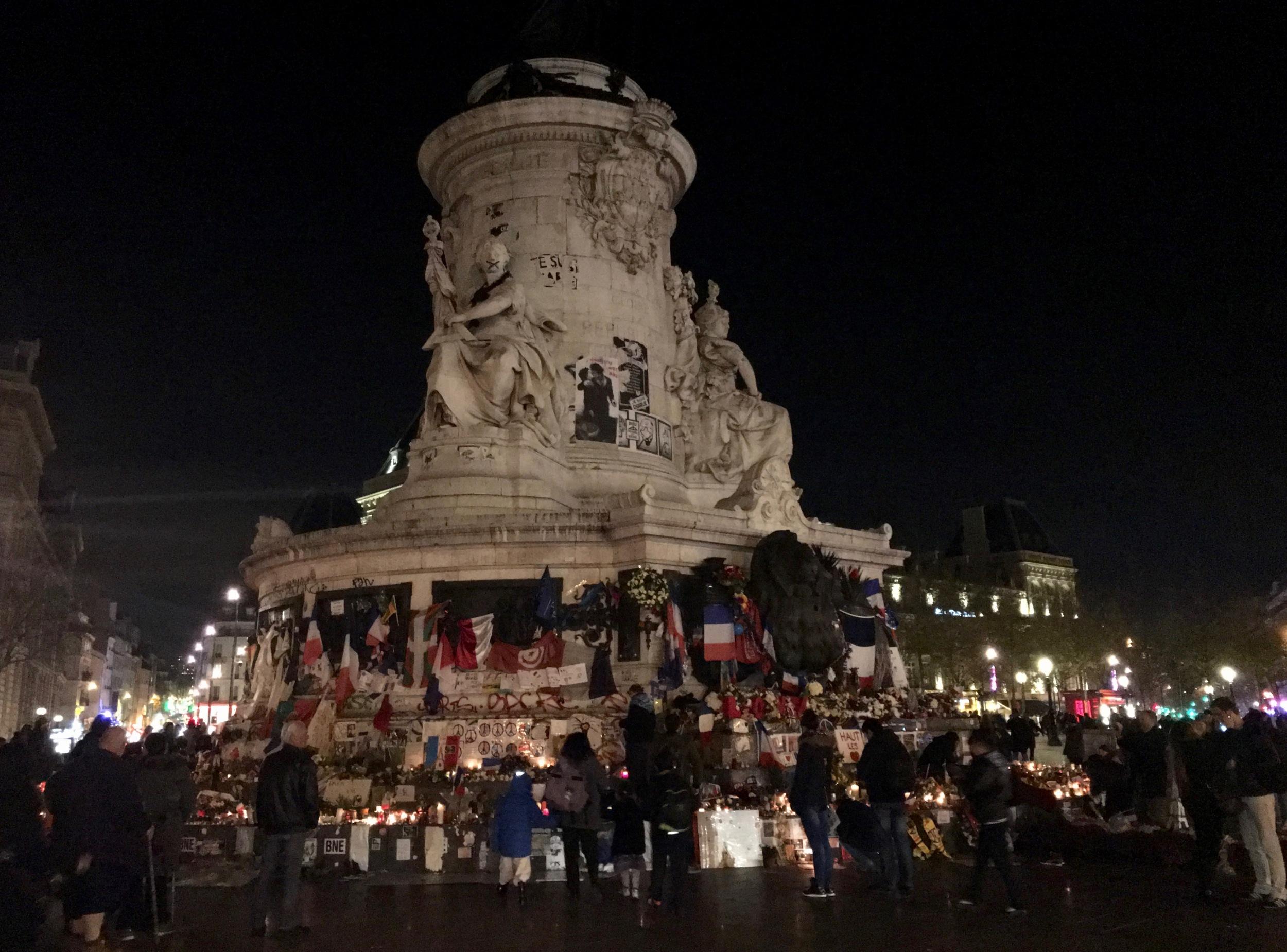 Place de la Republic at night, December, 2015