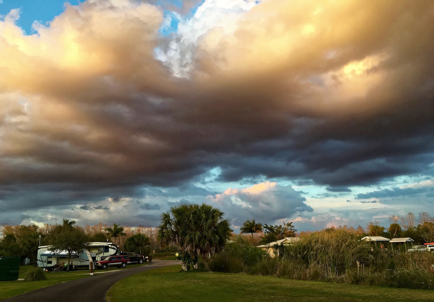 An extraordinary sky at a campground in the Everglades.