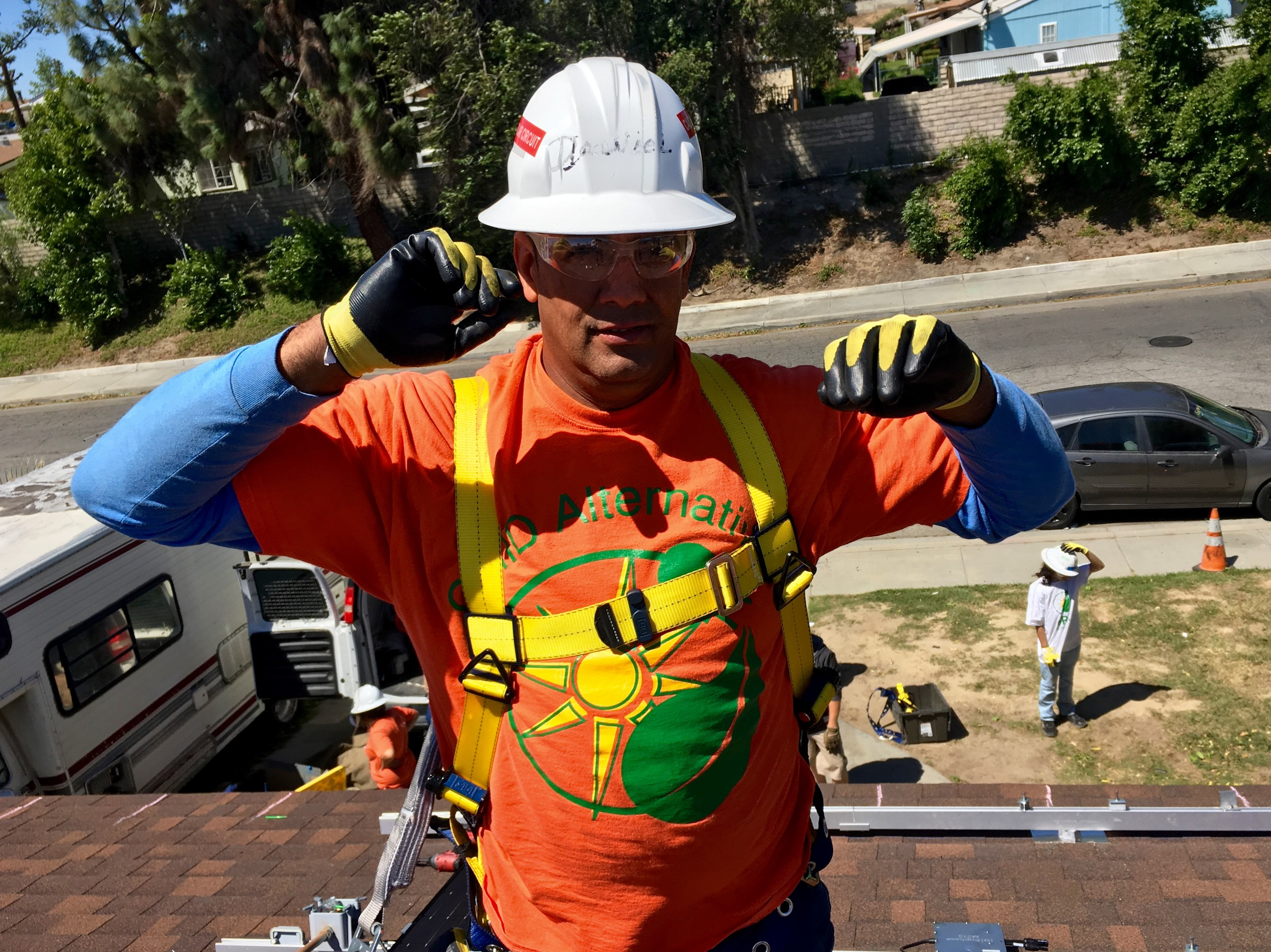 Daniel from Puerto Rico, a Construction Supervisor for GRID, Inland Empire. Even though Daniel's English was limited he was one of the best teachers (in English) I've ever been around.
