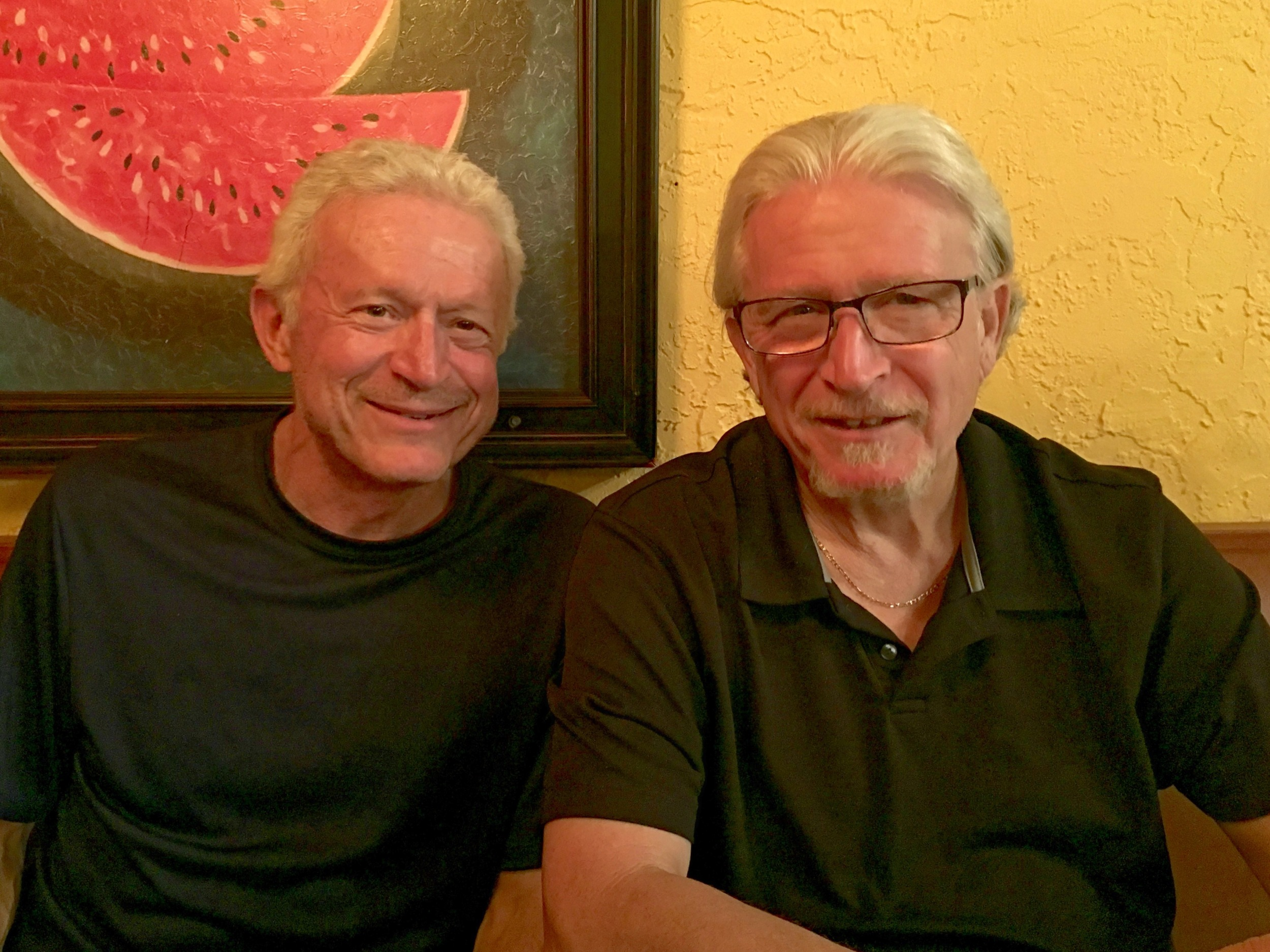 My brother Chris and I at dinner together.