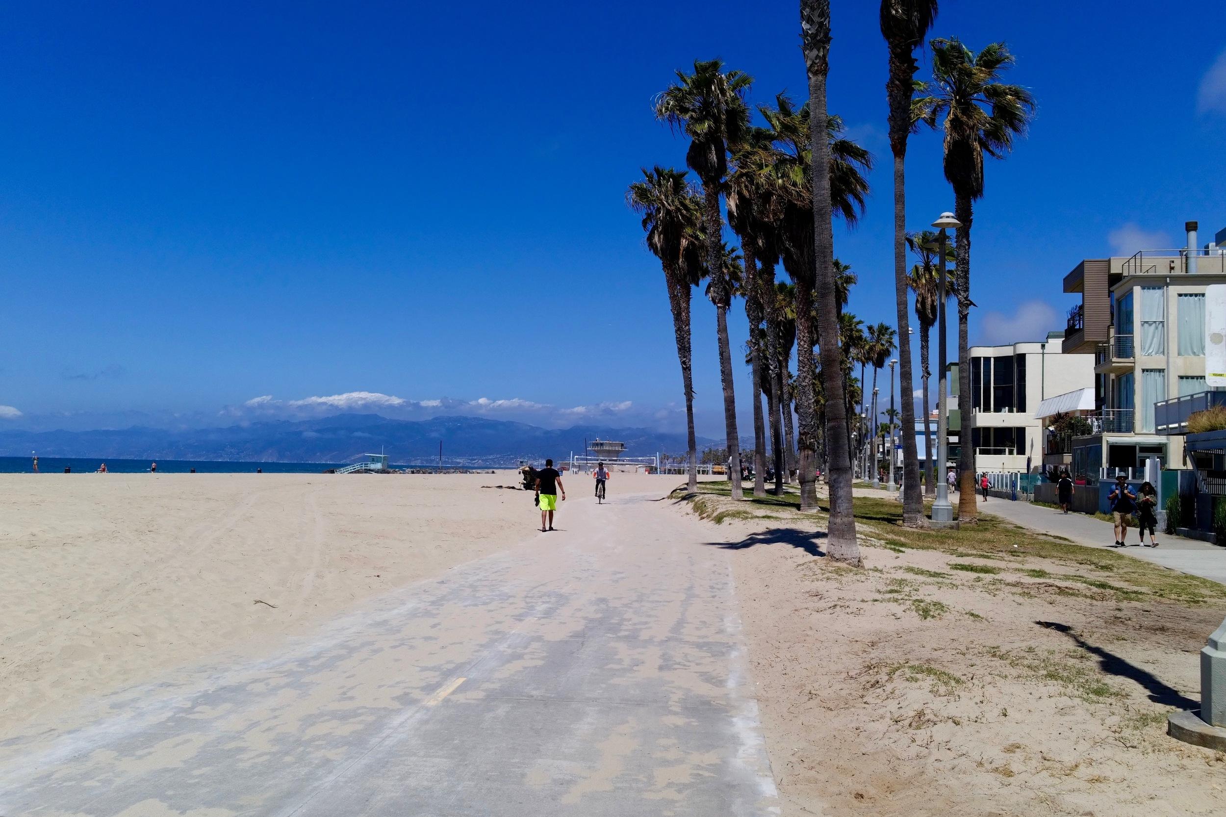 The extraordinary beachfront in Venice.