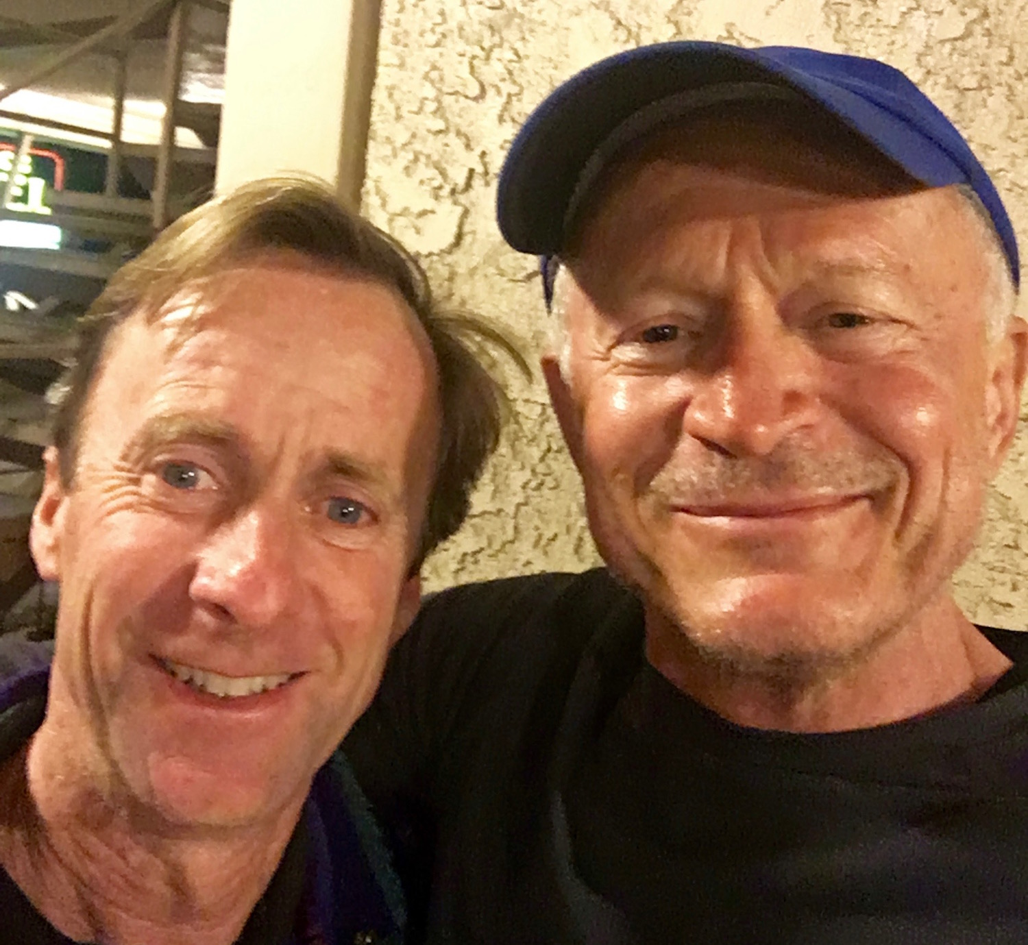 A selfie with me and Ian Cummings after a great meal at a local Taqueria in Lompoc.