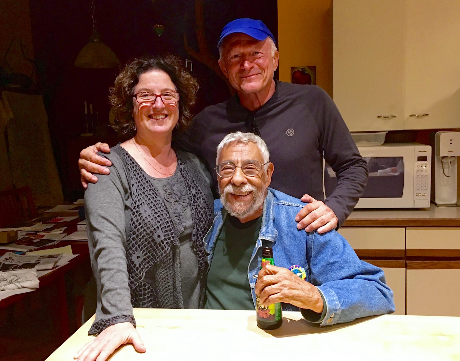 My old friends Rafael Gonzales and Deena Levy. Although I lived there for 7 years in the late 1980's,  I hadn't been back to the East Bay for about 35 years.