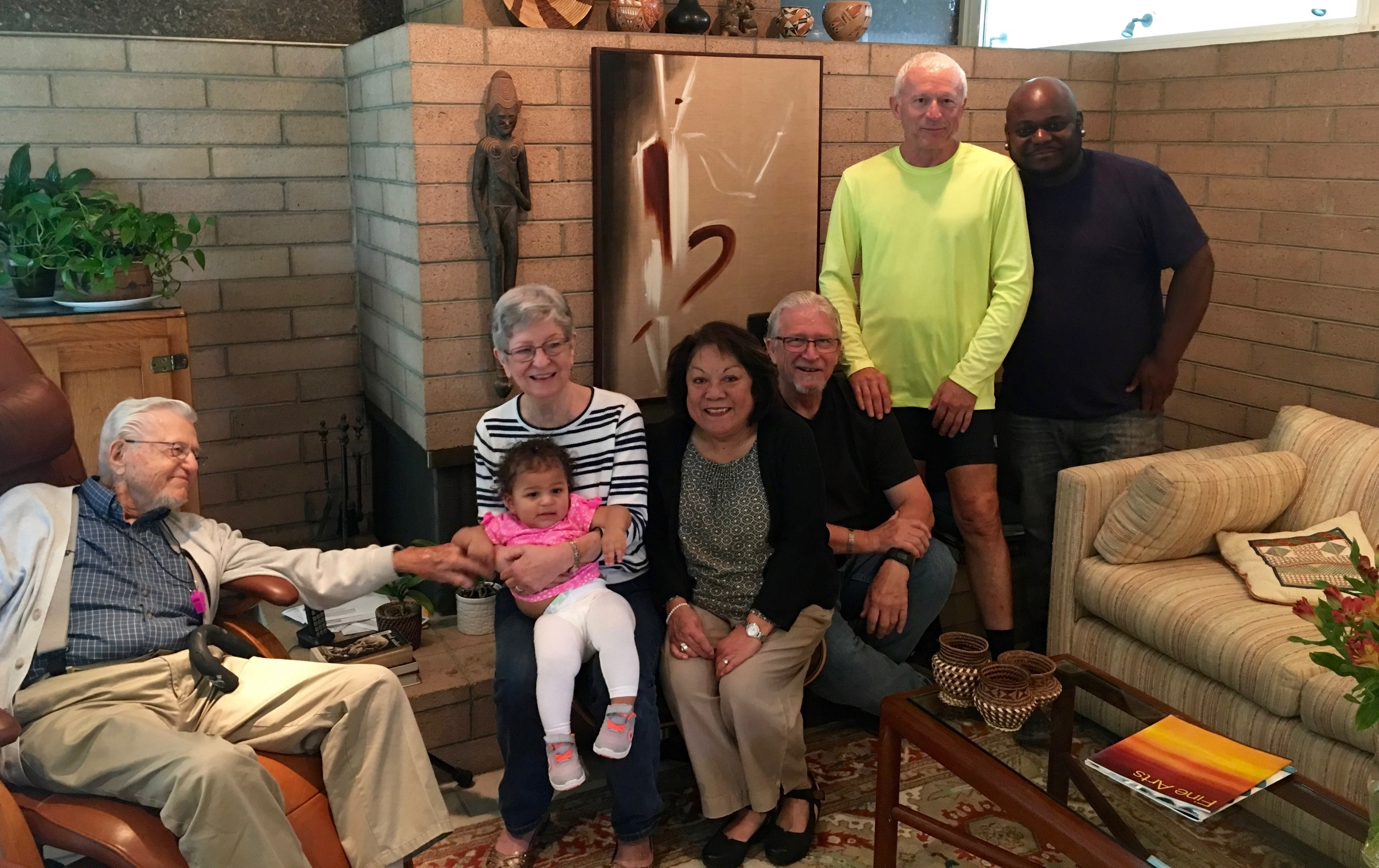 Great Grandparents, Grandfather, Great Aunt and Uncle, Dad.Missing is Mom -Beth, who took the picture.