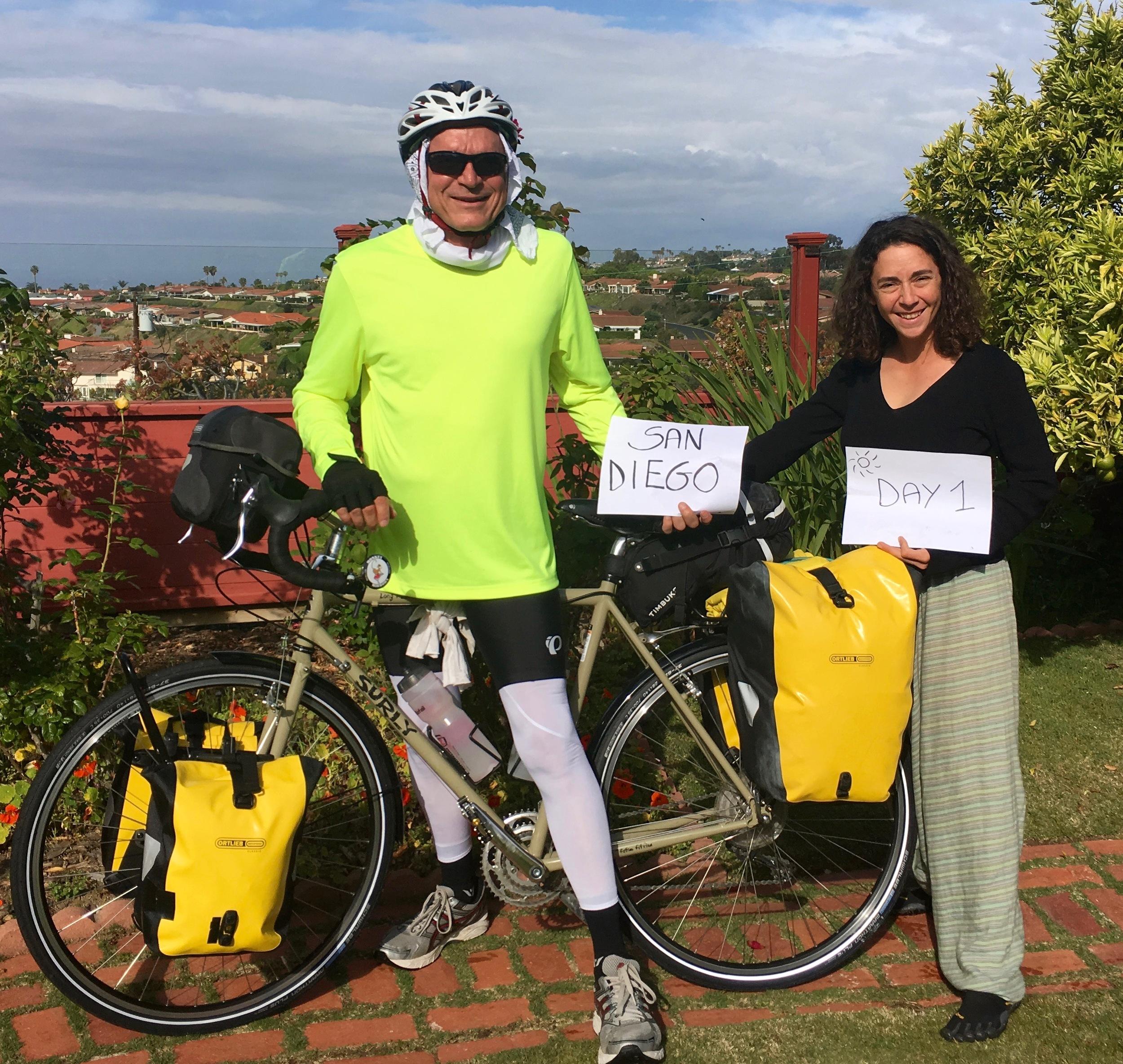 Me with Laura Galavis,a Solar Installation Supervisor (SIS) at GRID, San Diego.