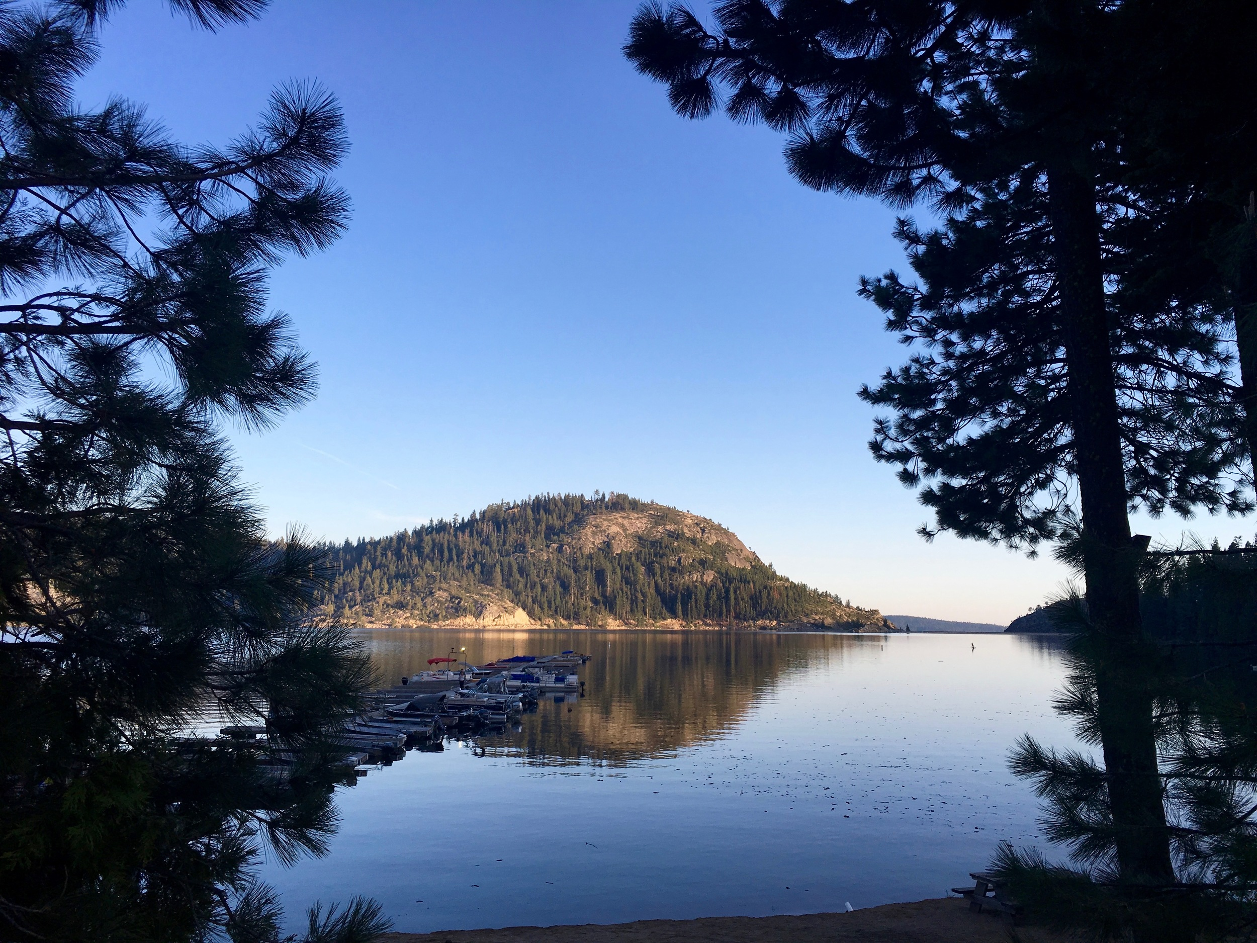 """The view from my campsite on Bear Lake off Route 88 in the Sierra, which goes over Carson Pass, the same pass used by the original Mormons. It was once known as """"Emigrant Trail""""."""