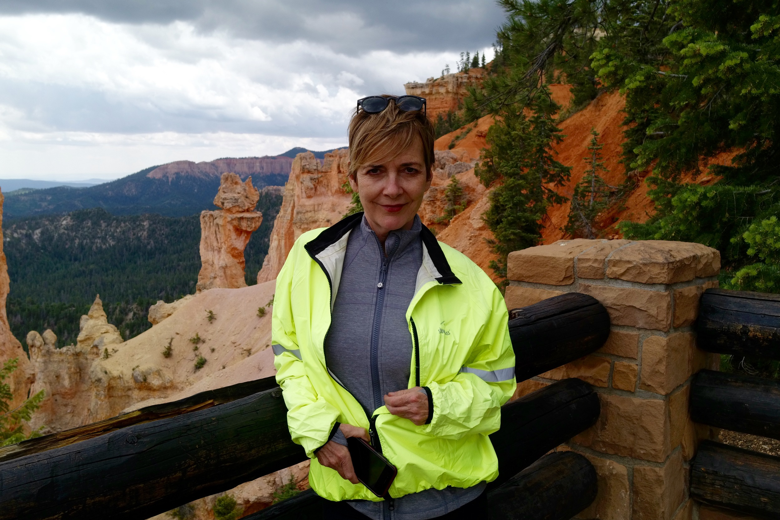 My friend Maryjane Fahey enjoying the Bryce scenery.