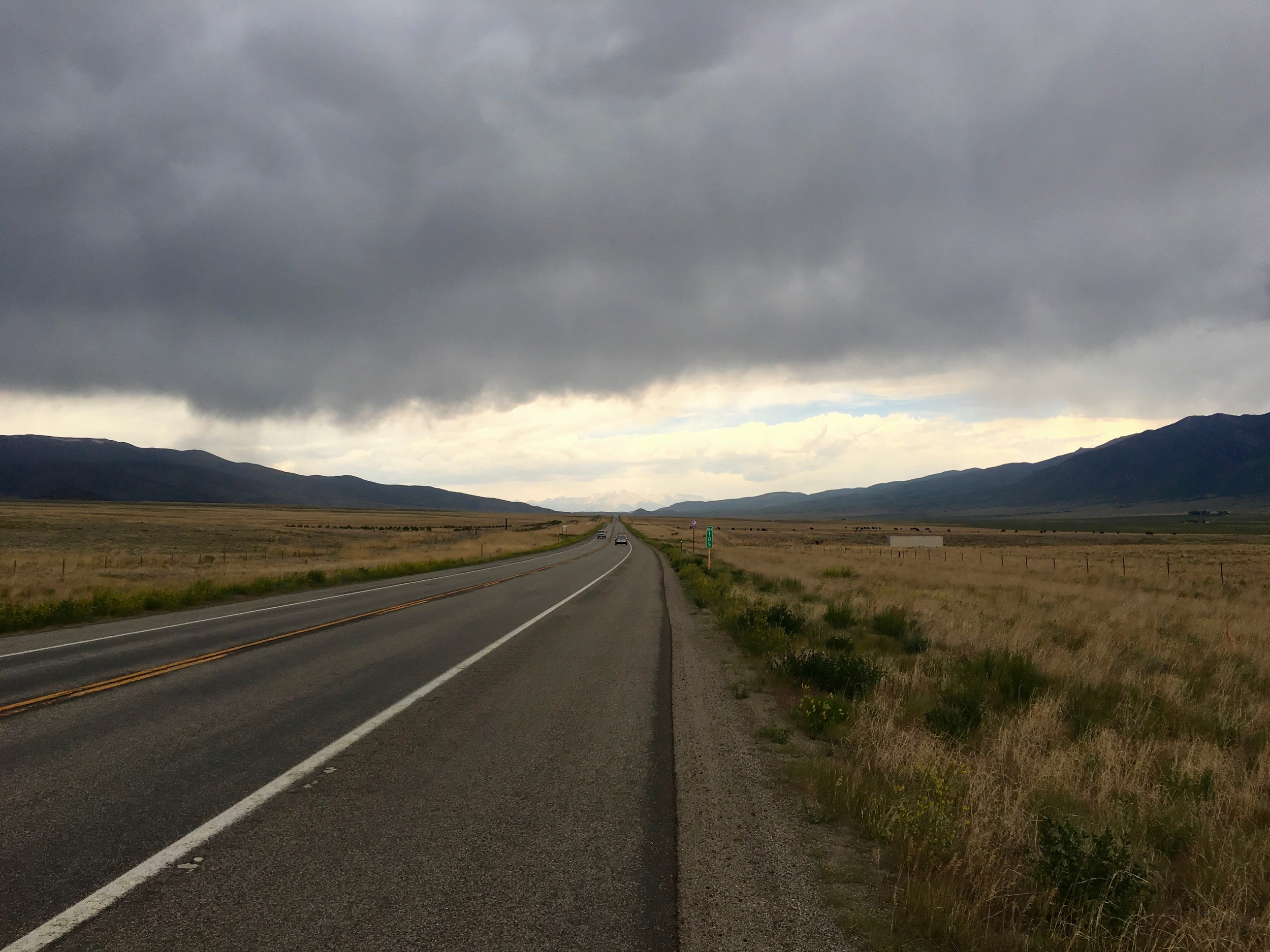 Not far from where I camped during an intense wind and thunderstorm.