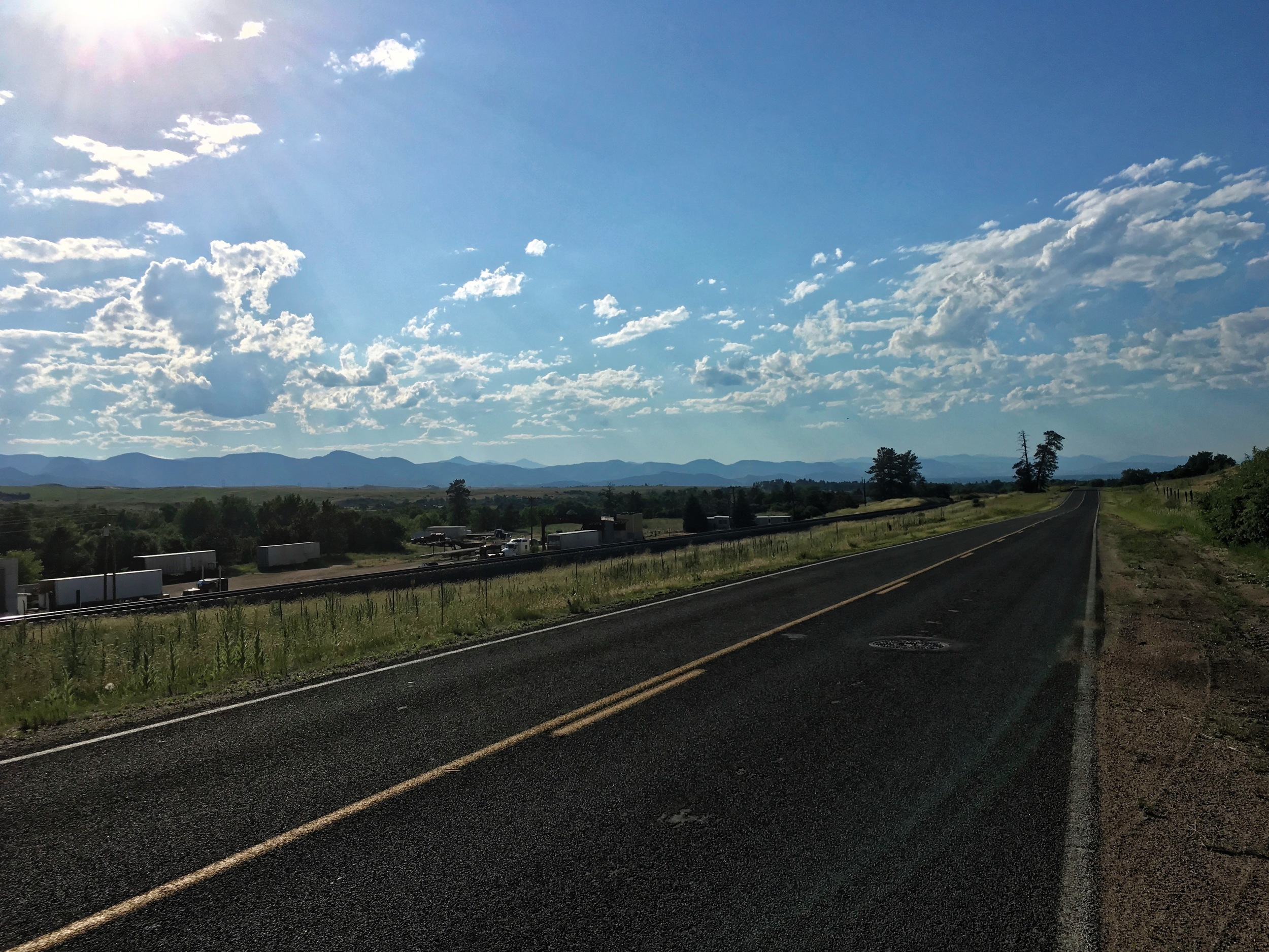 The view on 105 on the way north into Littleton. I had forgotten how lovely the front range can be.