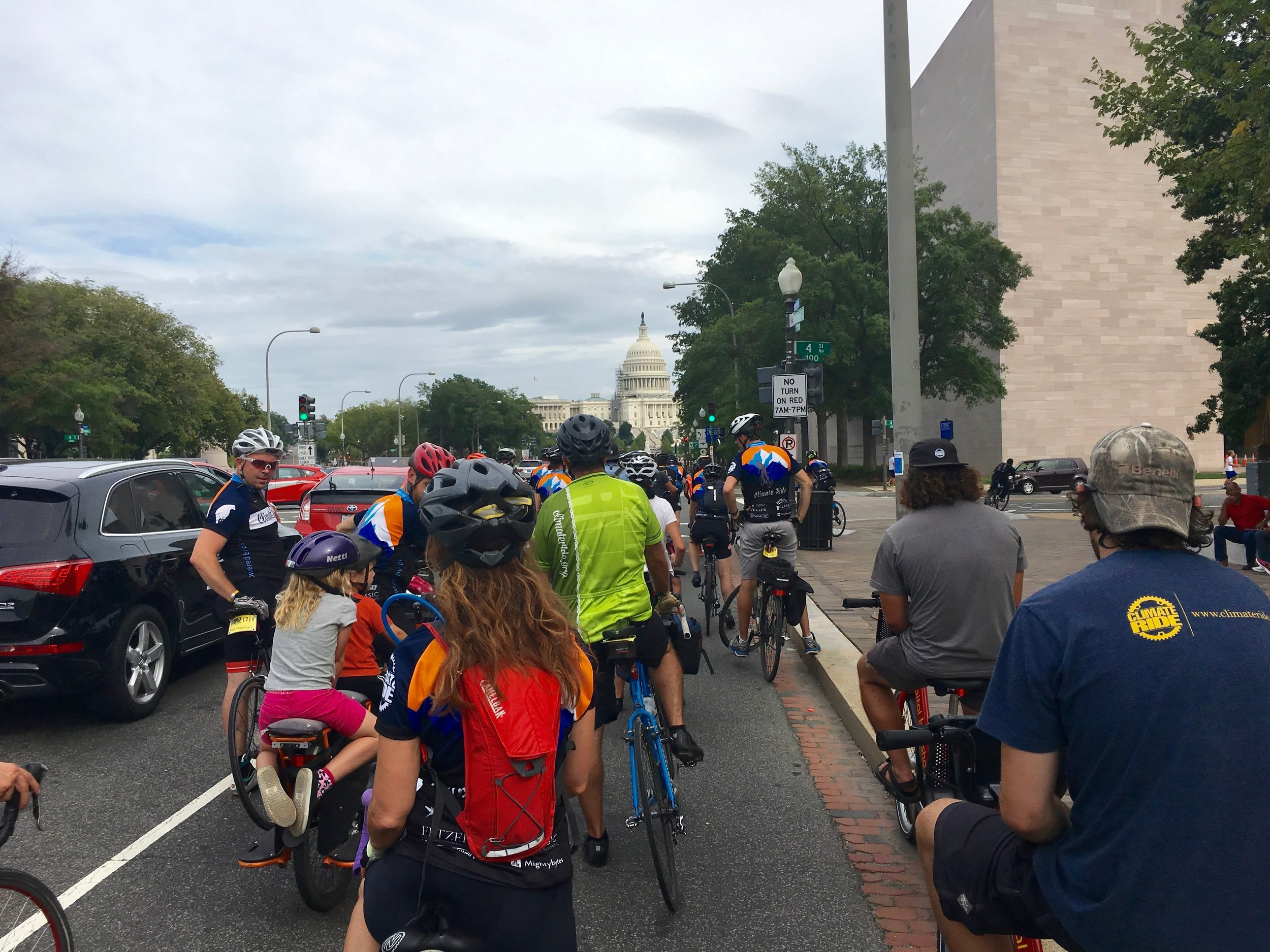 On the way to the Capitol