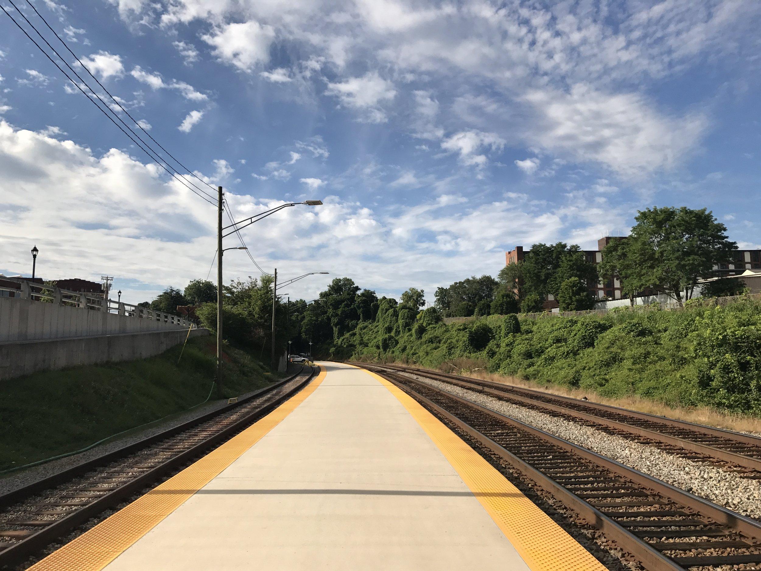 Amtrak platform, Lynchburg, VA