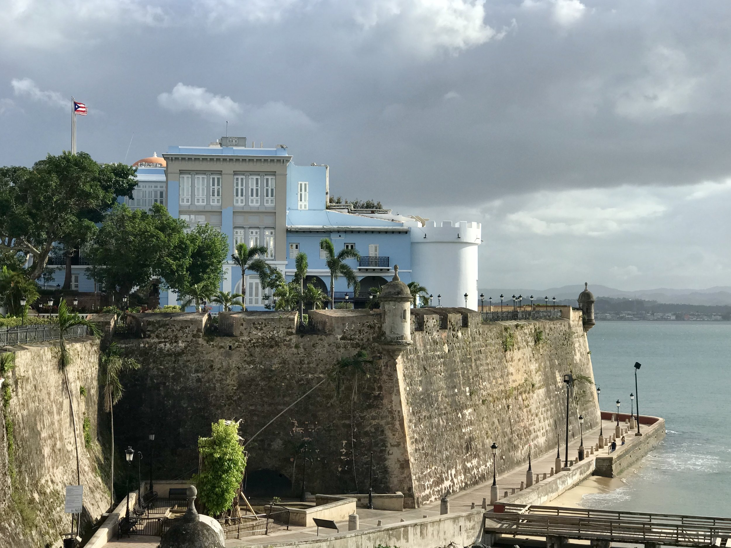 A beautiful day in Old San Juan.