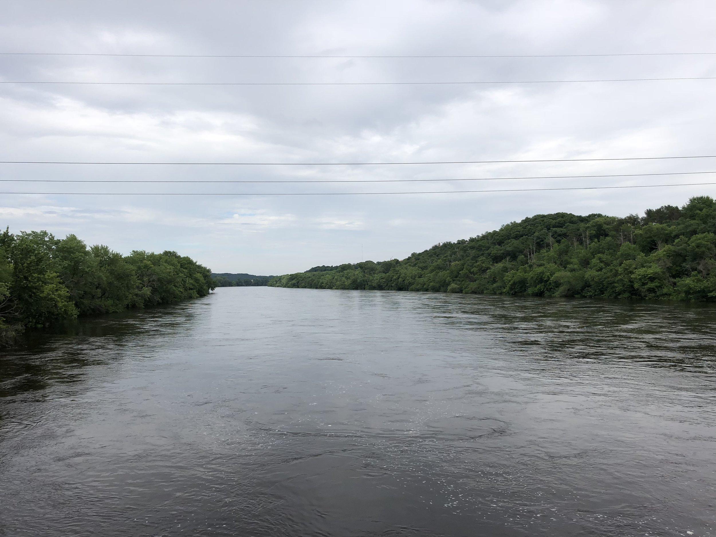 The swollen Chippewa River.