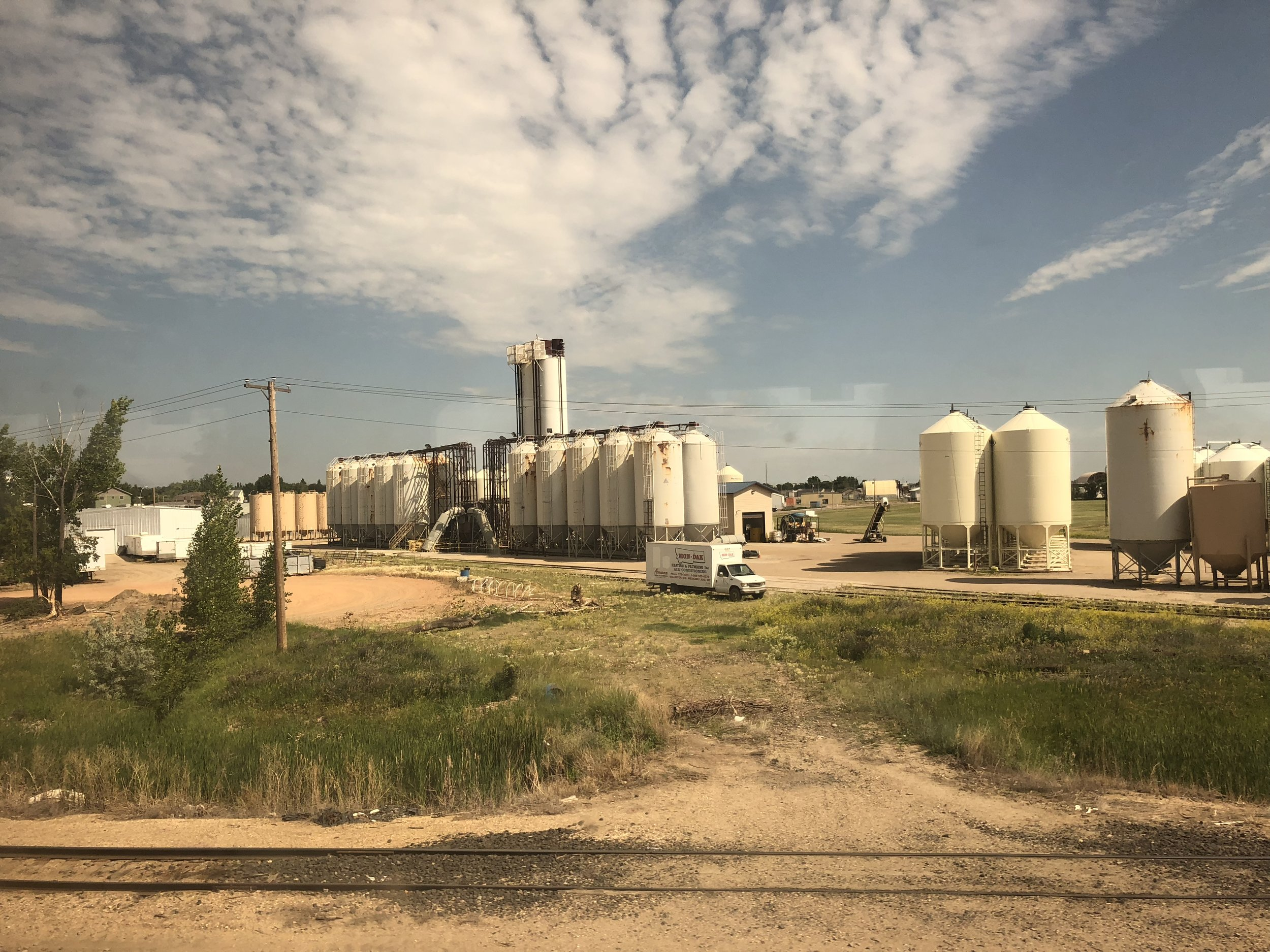 View from the train at Williston, North Dakota