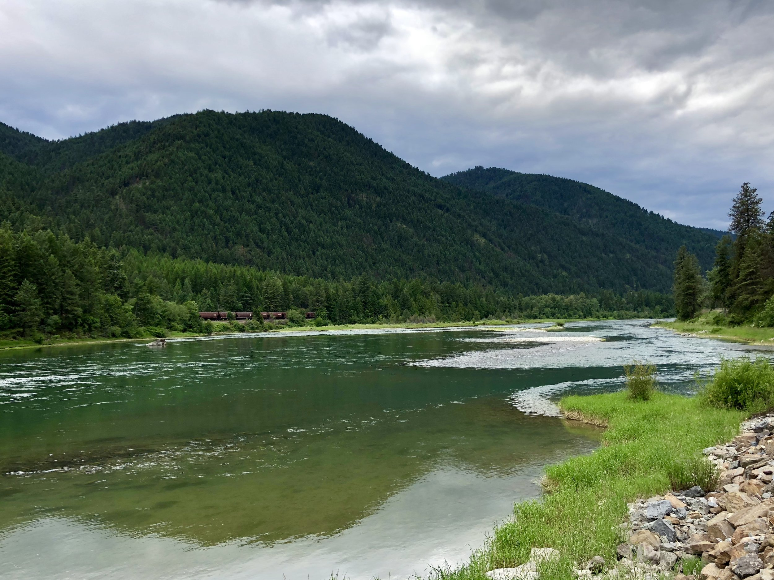 The Kootenai River about 5 miles north of Libby.
