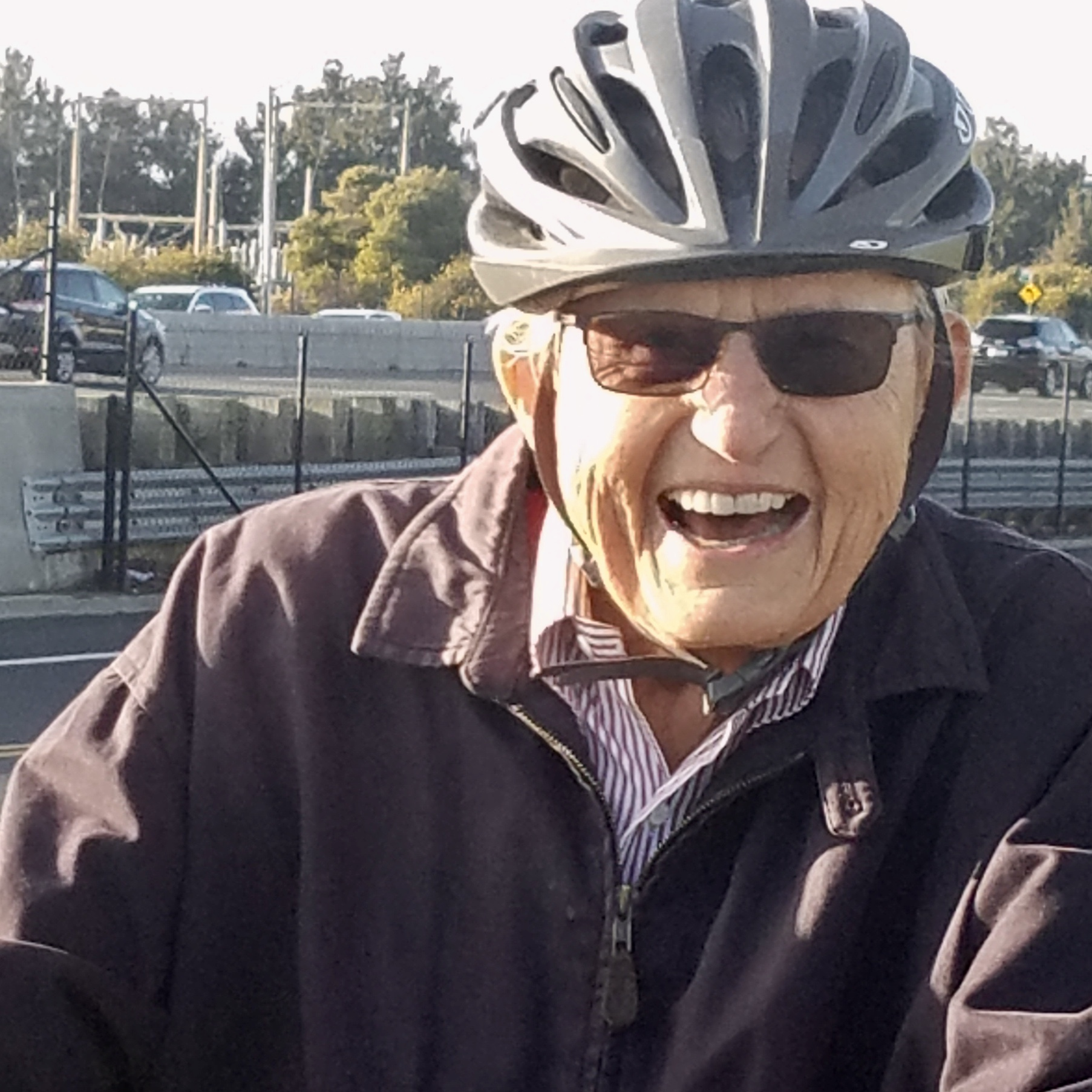 A good moment on the bike on my Dad's 100th birthday.
