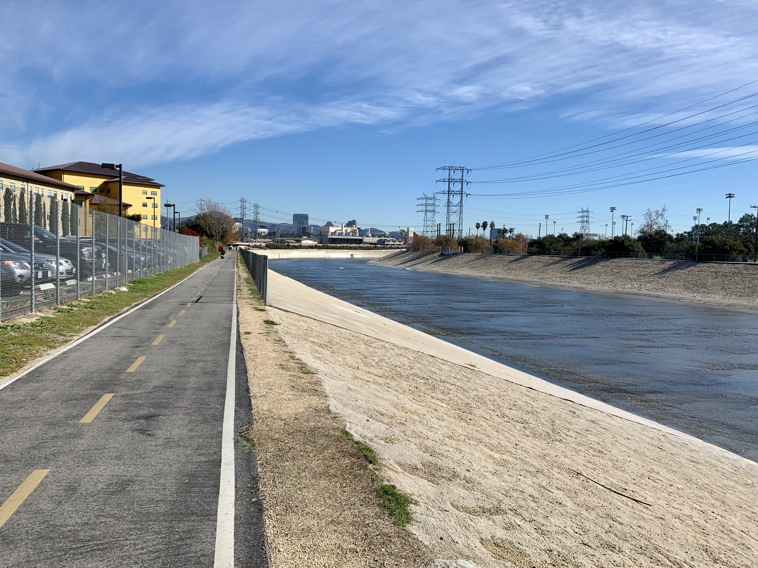 The Los Angeles River Cycleway.