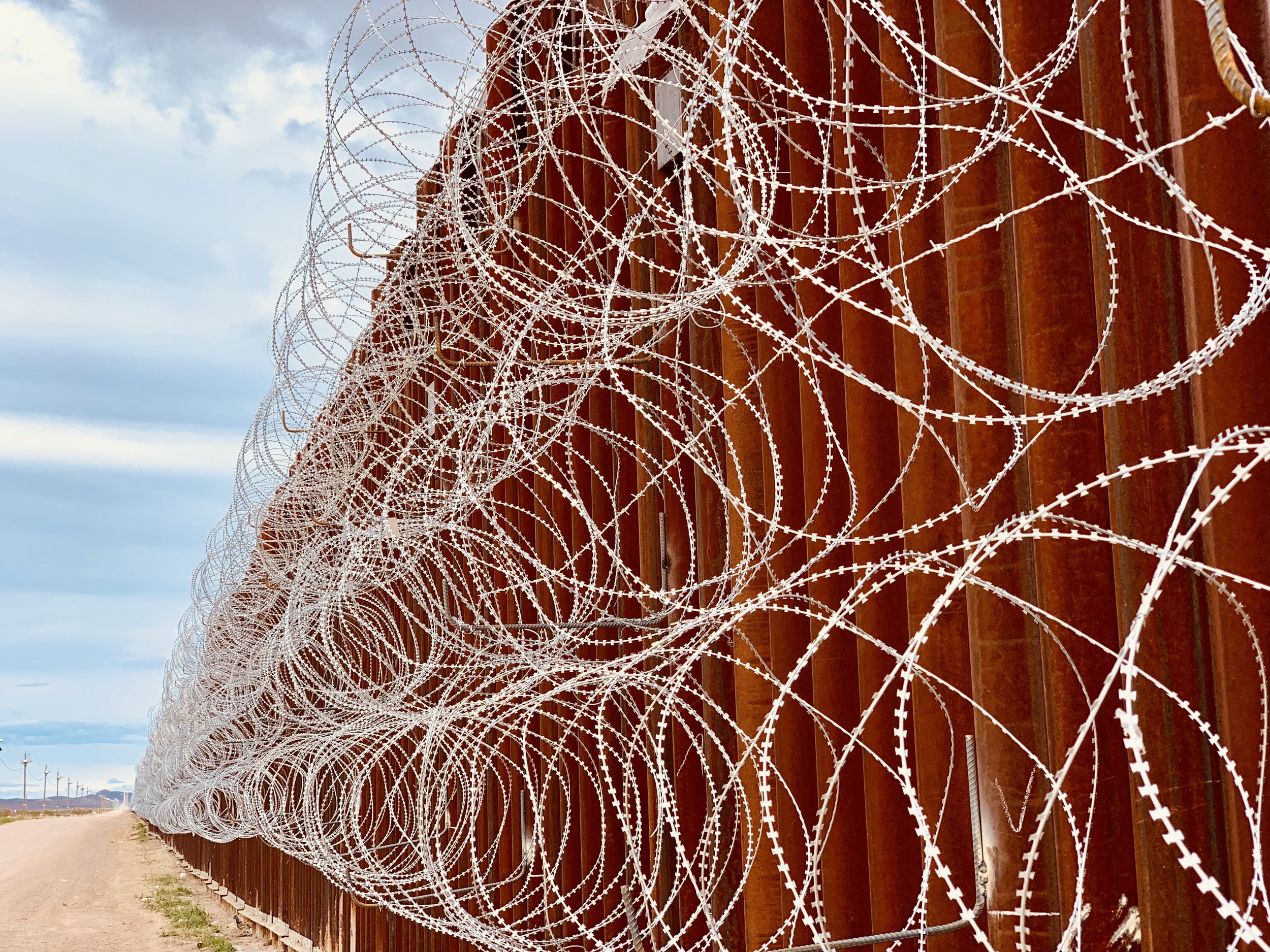 The Border Fence in Doulgas, AZ