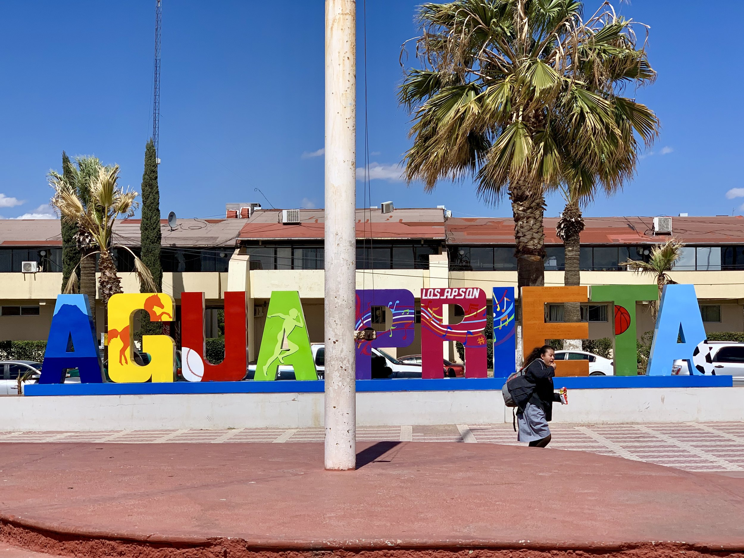 The main square in Agua Prieta.