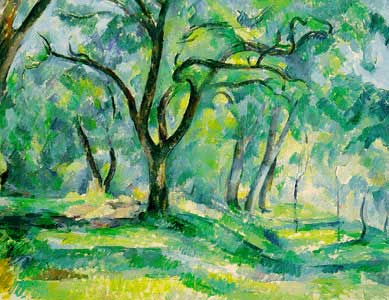 The Forest  by Paul Cezanne