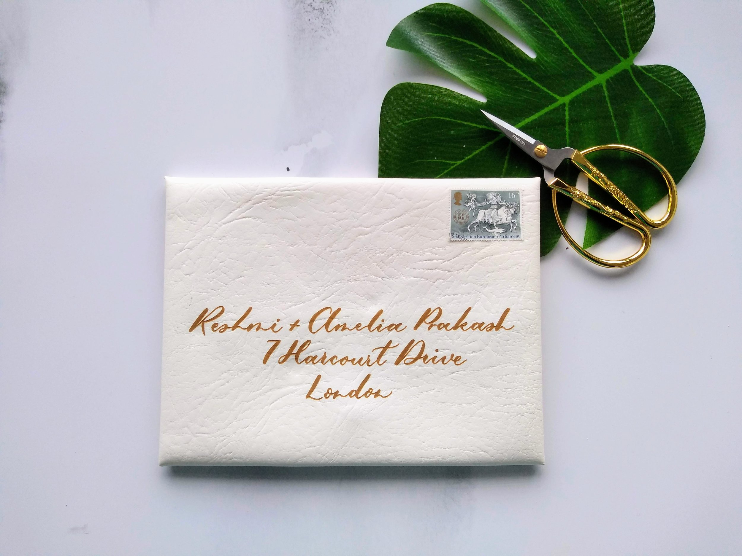 Laser Engraved Calligraphy Leather