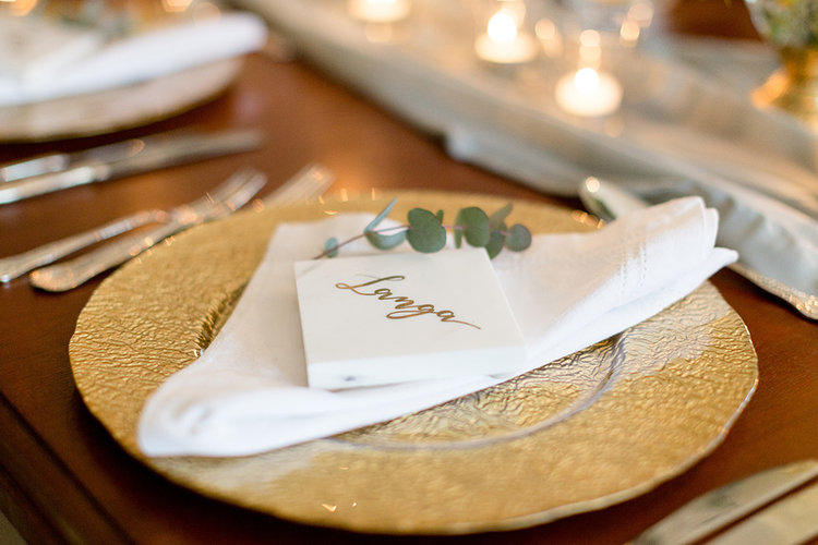 Calligraphy Marble Coaster Place Card by Studio Oudizo, Cheltenham