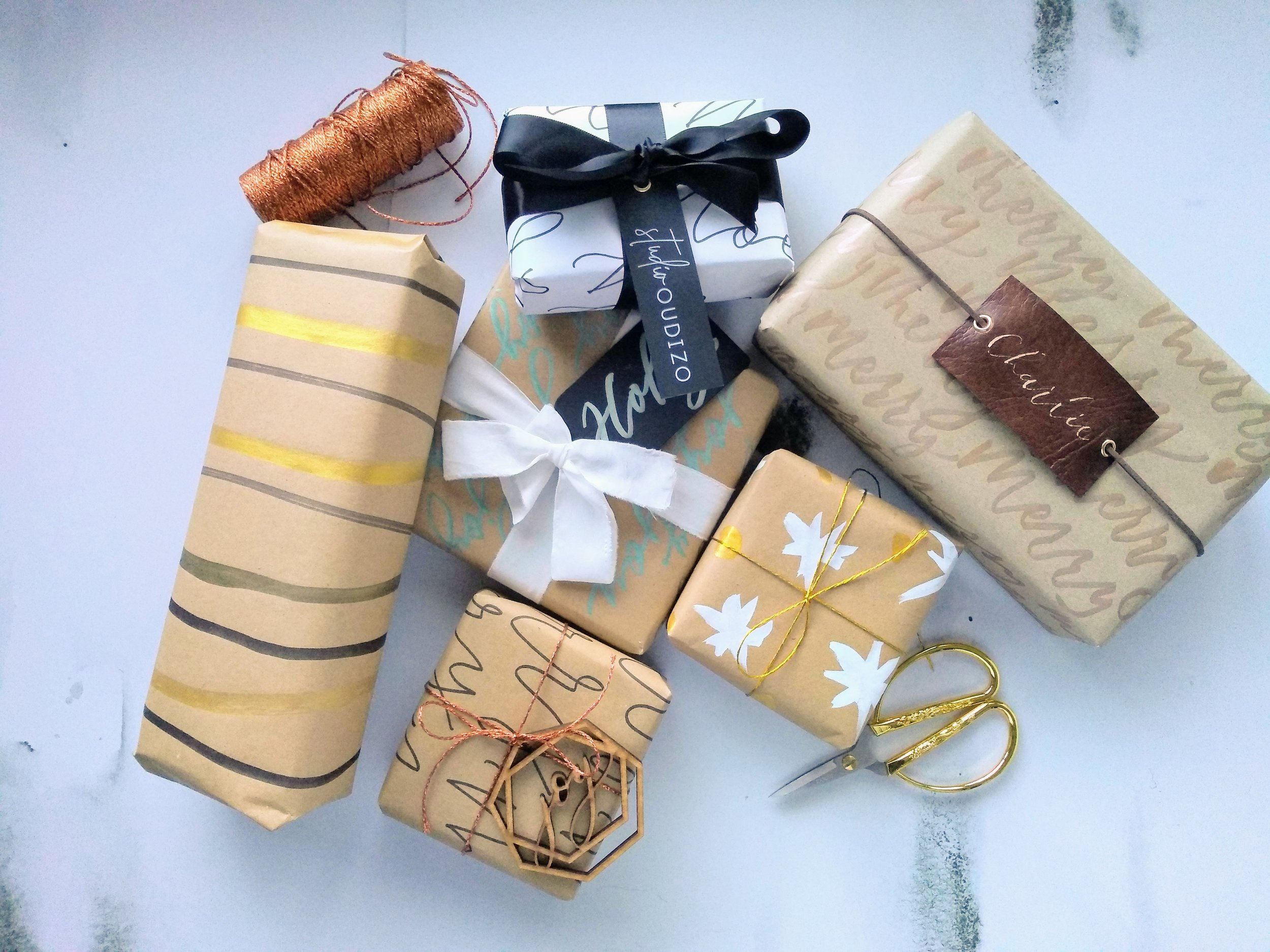 DIY wrapping paper gift wrap tutorial