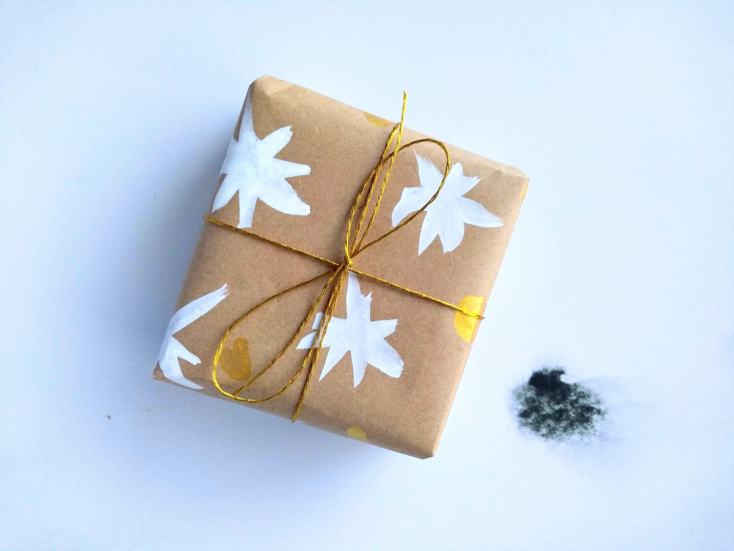DIY Painterly Wrapping Paper