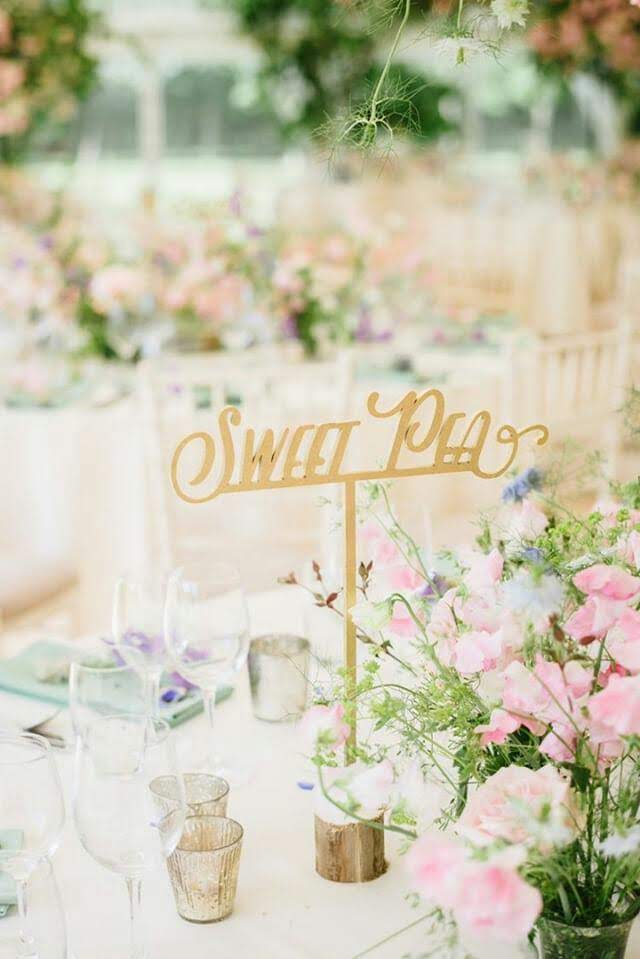 Laser Cut Table Name