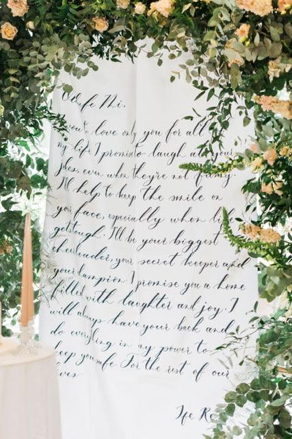 Calligraphy Fabric Backdrop