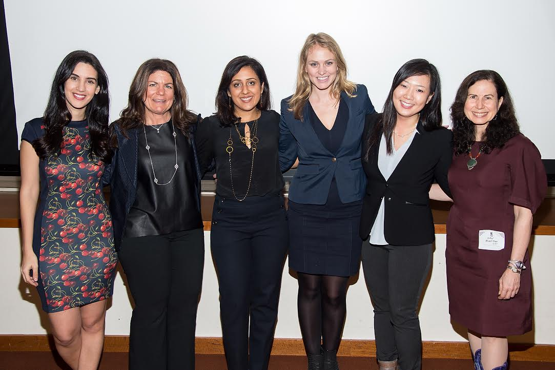 Photo by Michael Stewart of Getty Images. From left: Natalie Zfat, Allison Wright, Mona Patel, Kristina Libby, Janice Chong, Nan J. Morrison