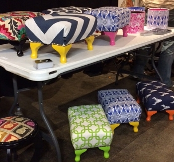 Footstools from the Drygate - Urbanmarket 20th Aug 2017