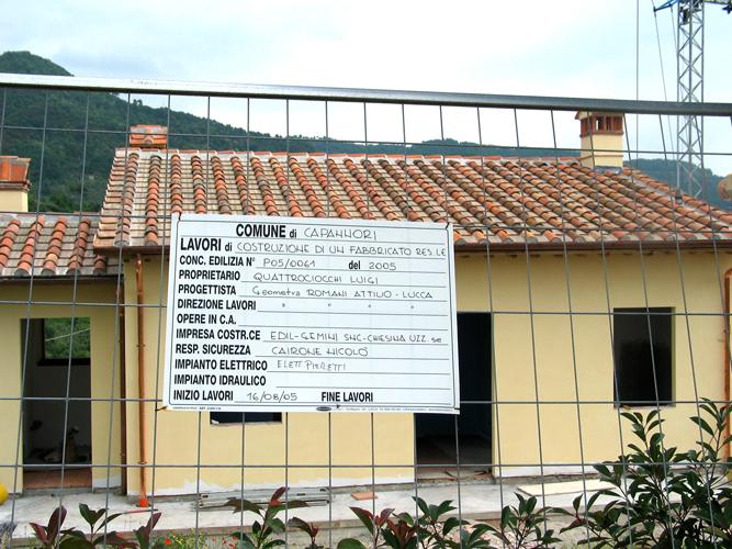 Worksite in Capanniori, Italy
