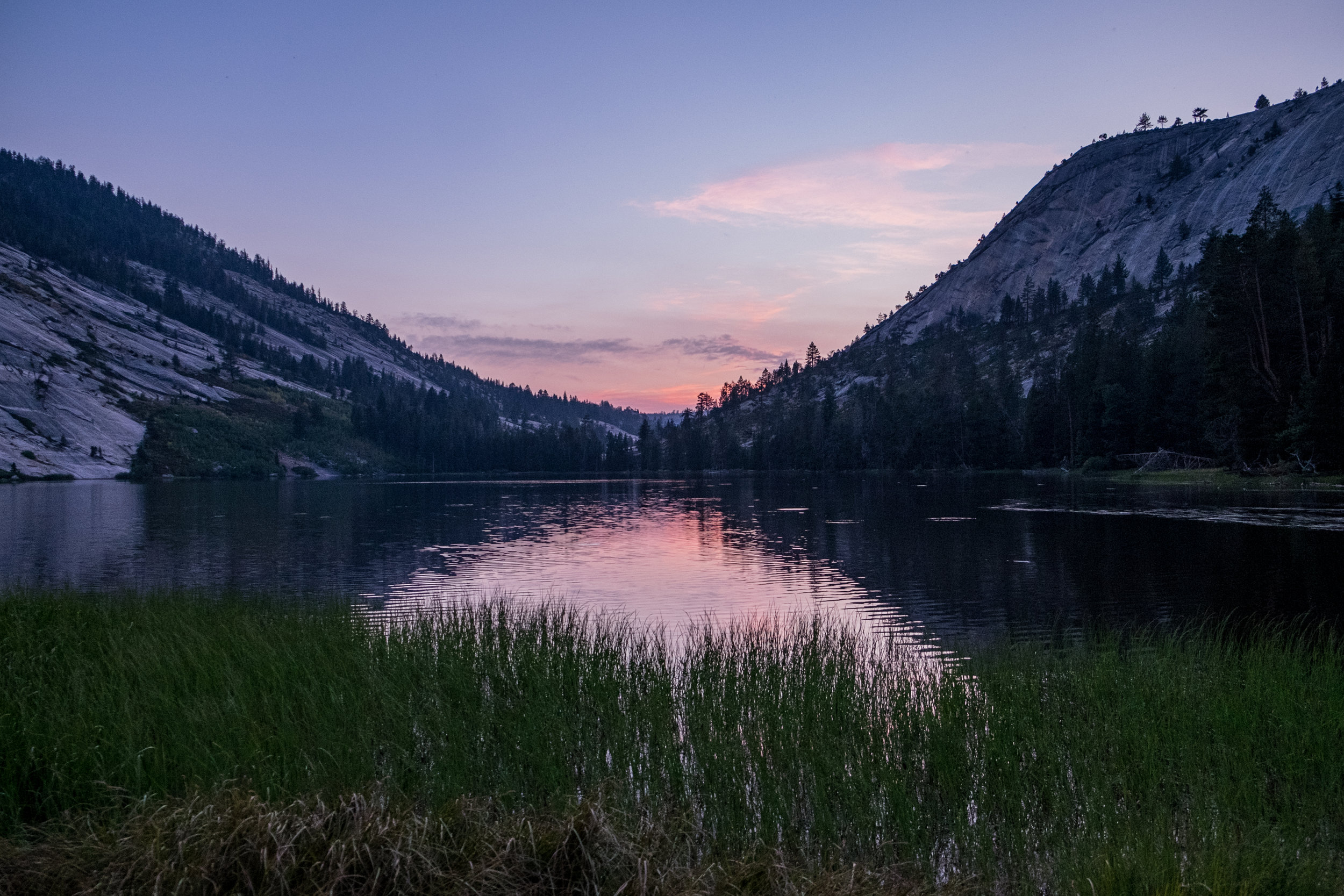 Merced Lake at sunset
