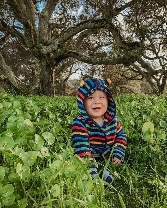 My sweet, happy boy on the first day of spring. (He turns one exactly one week from today... 😭 Time has a funny way of sneaking up on you.)