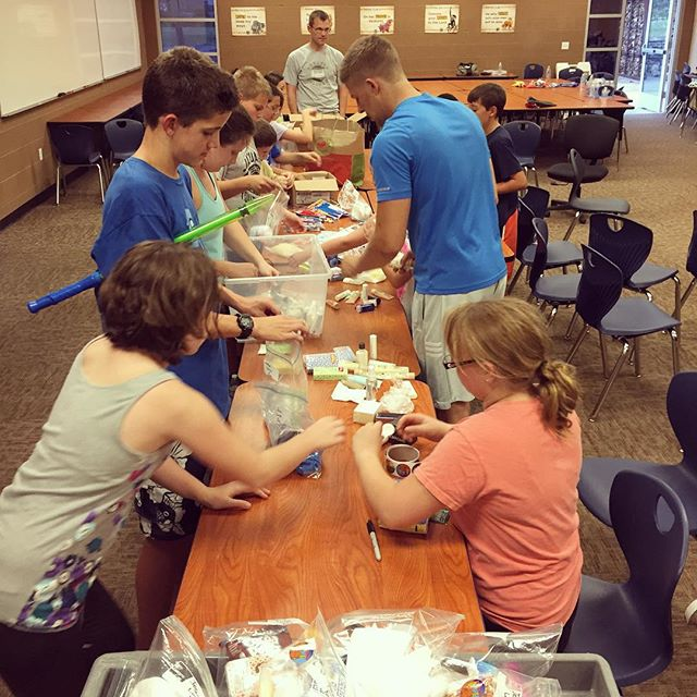 The Source youth group making hygiene packs for the homeless last night • thanks to everyone who helped out!