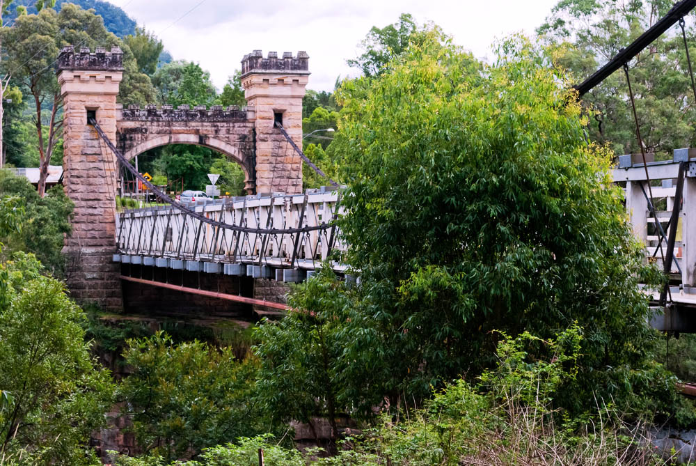 Hampden Bridge is a suspension bridge across the Kangaroo River, located in the town of Kangaroo Valley, New South Wales, Australia. It is named after Lord Hampden, Governors of New South Wales from 1895 to 1899.