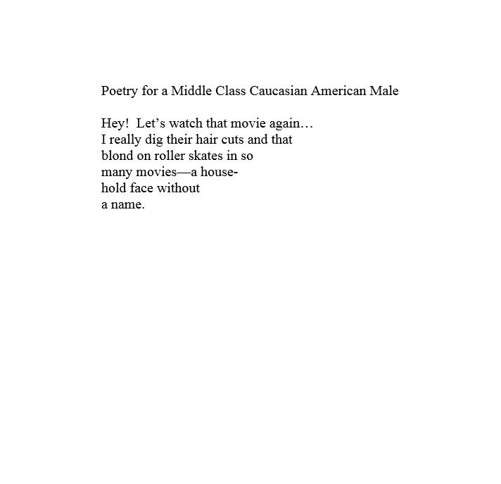 Poetry from a Middle Class Cau.JPG