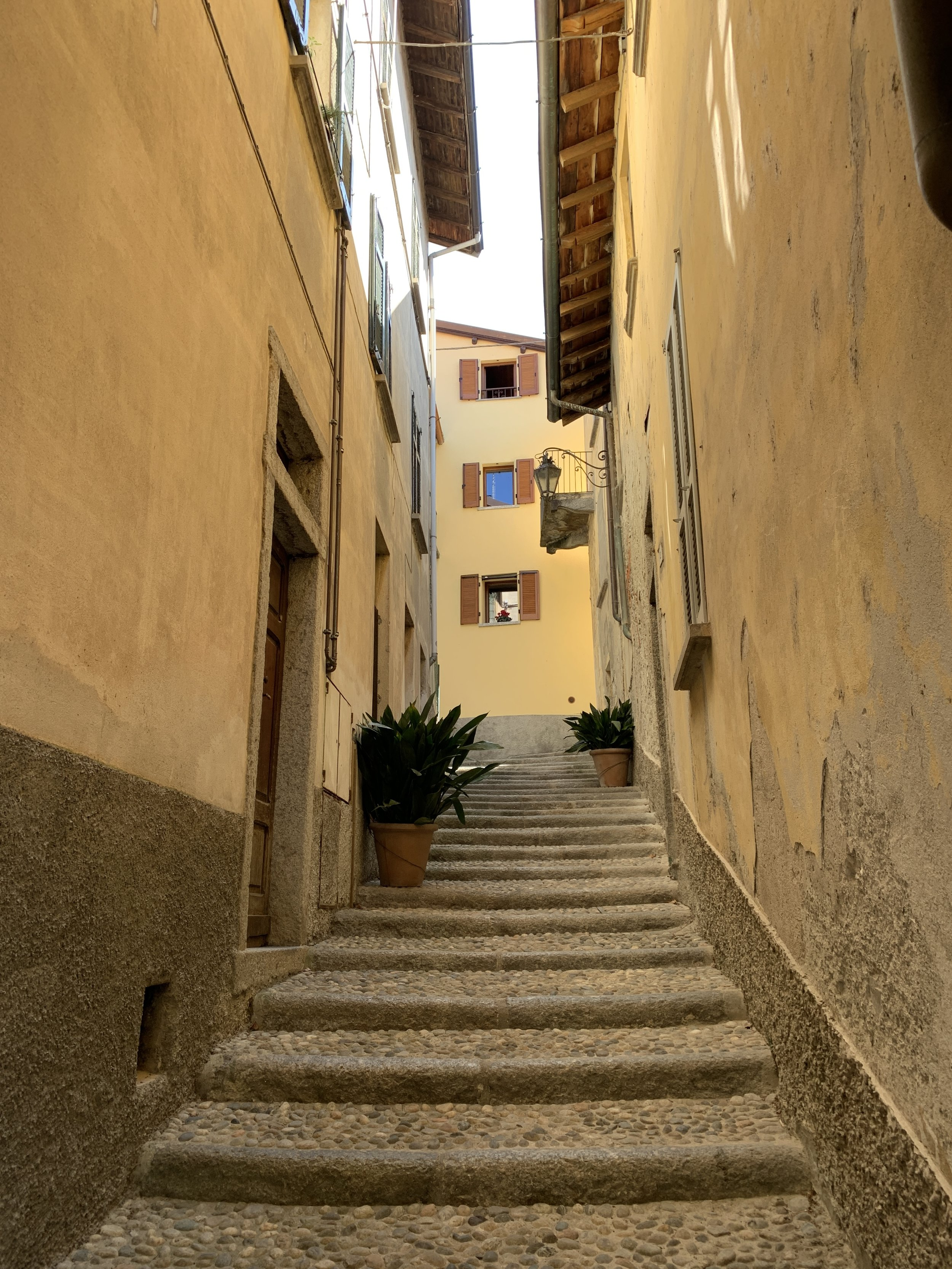 Steps in Bellagio, where my sister and I went after I finished my first week of school.