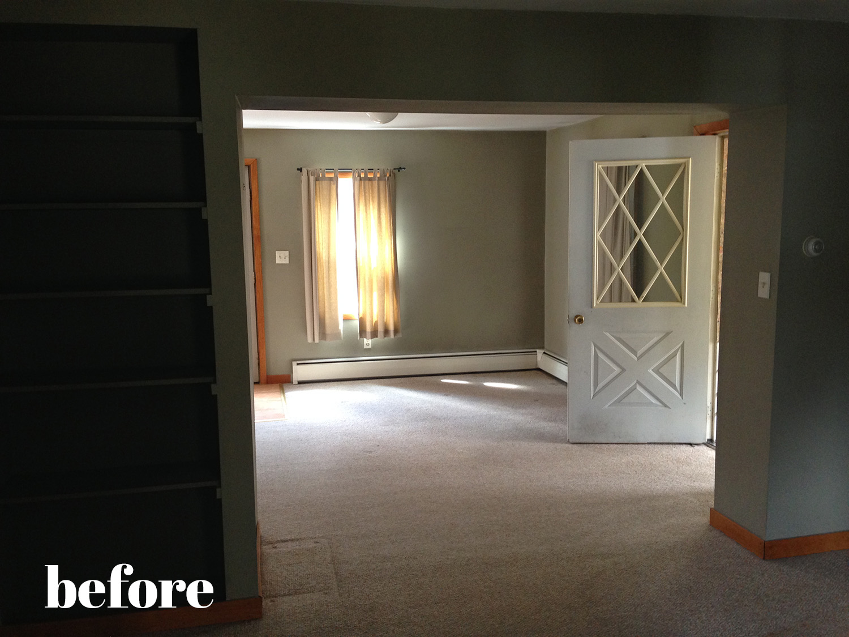 Brightly painted interior doors, via danielleandco.com