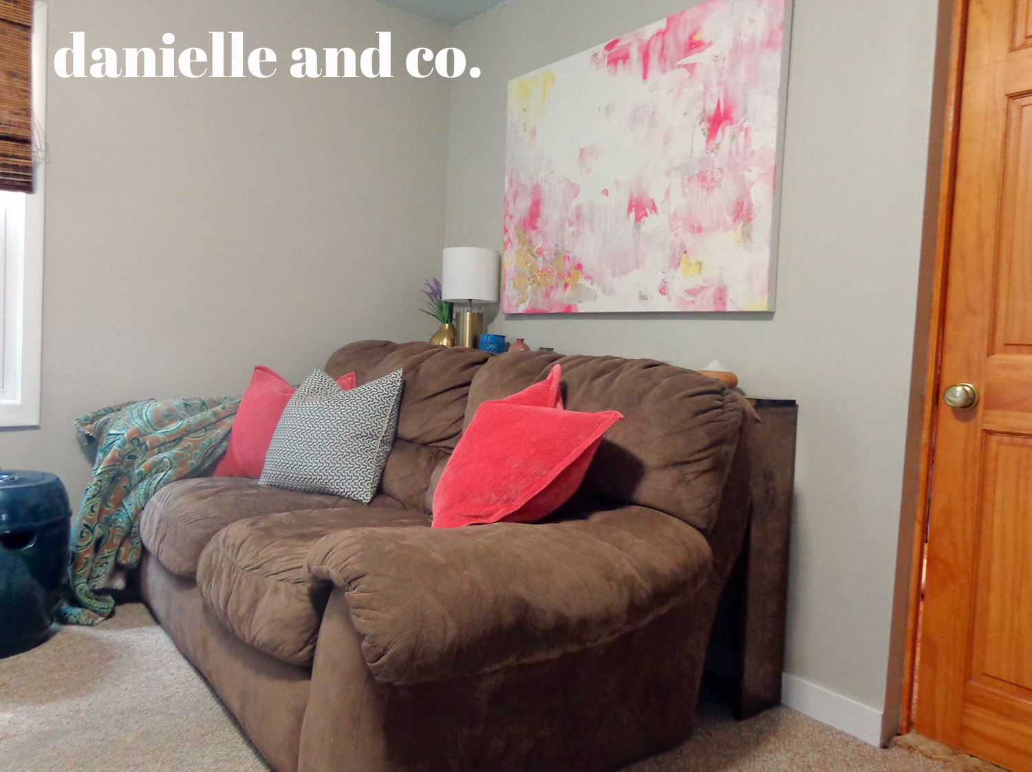 Hiding those &$#% cords with a DIY sofa table! Check out this version and links to other tutorials at danielle and co.
