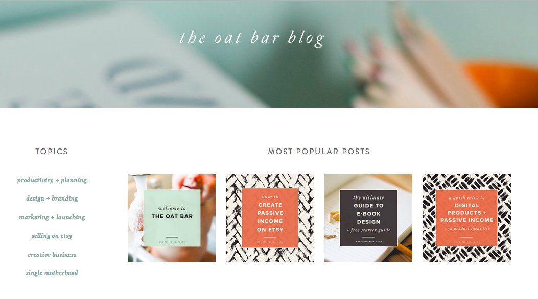 Paper & Oats  shows how you can use patterns in your blog post images; I love the modern and professional black & white look.