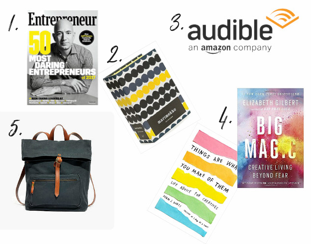 Gift ideas for creative entrepreneurs; how to enrich their experience this holiday season! From danielle & co.